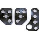 SPARCO acier noir Kit 3 pédales aluminium