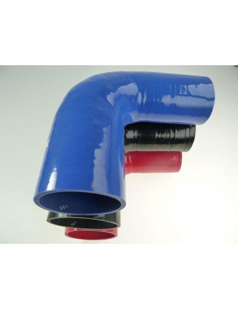 51-63mm - durite silicone réducteur coude 90° 4 plis