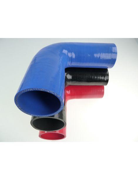 63-70mm - durite silicone réducteur coude 90° 4 plis