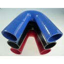 38mm - coude silicone 135° 3 plis