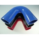 70mm - coude silicone 135° 4 plis