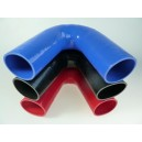 80mm - coude silicone 135° 4 plis