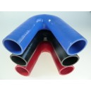 90mm - coude silicone 135° 5 plis