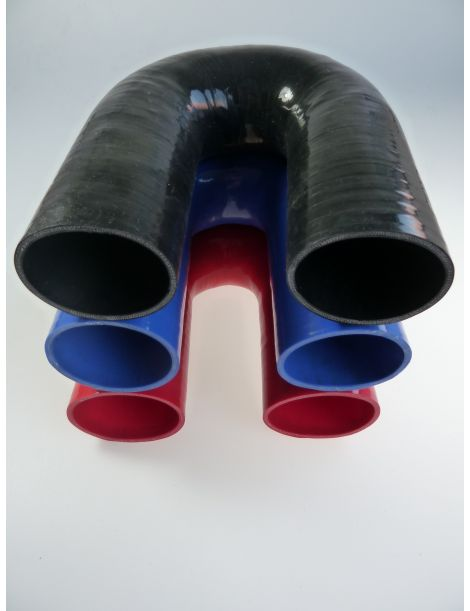 70mm - coude silicone 180° 4 plis