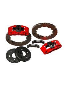 Kit gros freins avant HISPEC Road 360x28mm, étriers de freins 6 pistons MEGA MONSTER pour FORD Focus RS 1998-2005