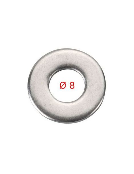 8mm (M8) - Rondelle inox A2