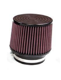 Filtre à air haut débit : Entrée 100mm Top: 130mm Hauteur: 125mm