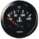 Manomètre température eau VDO 40-120°C fond noir
