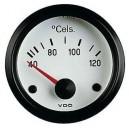 Manomètre température eau VDO 40-120°C fond blanc