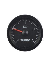 Manomètre pression turbo PRO fond noir -1/+3bars