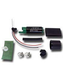 Pompe à essence E85 interne AEM 340L/H spécial éthanol, aspiration sur le côté