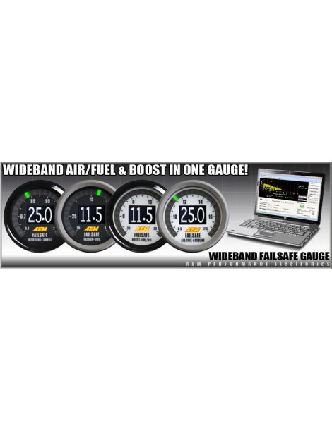 Afficheur AEM Failsafe Wideband(Large band) et pression de turbo