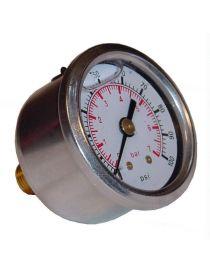 Manomètre de pression d'essence à glycérine haute pression (7 bars)