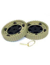 HONDA 1.6/1.8 16V VTEC B16A/ B18C Poulies AAC réglables CATCAMS 34 dents (LA PAIRE)