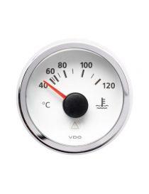Manomètre température eau VDO Viewline 40-120°C fond blanc