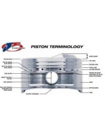 VOLKSWAGEN 3.2 24V R32 Piston forgé JE Pistons à l'unité RV: 8,5:1 GOLF IV/V R32