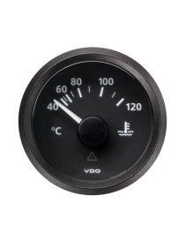Manomètre température eau VDO Viewline 40-120°C fond noir
