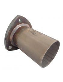 Bride 3 trous acier avec tube inox diamètre 54mm