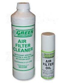 Kit GREEN bidon nettoyant 500ml et aérosol huile de filtration 50ml