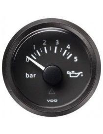 Manomètre pression huile VDO Viewline 0-10 bars fond noir