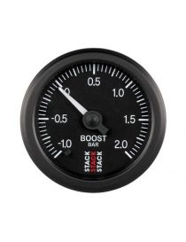 Manomètre STACK Analogique Pro pression turbo -1/+2bars, fond noir