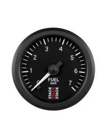 Manomètre STACK Analogique Pro pression essence 0-7bars, fond noir
