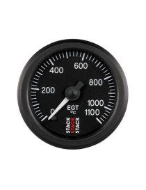 Manomètre STACK Analogique Pro EGT température échappement 0-1100°C, fond noir