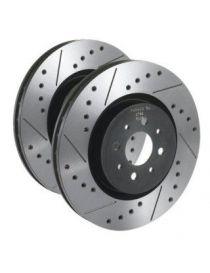 PEUGEOT 206 2.0 16S 2000- Disques de freins arrières TAROX rainurés/percés 247x8mm