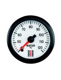 Manomètre STACK Analogique Pro température eau 40-120°C, fond blanc