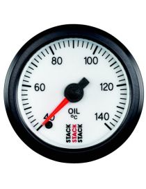 Manomètre STACK analogique pro température huile 40-140°C fond blanc