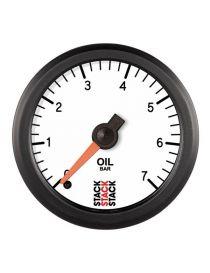 Manomètre STACK Analogique Pro pression huile 0-7 bars, fond blanc