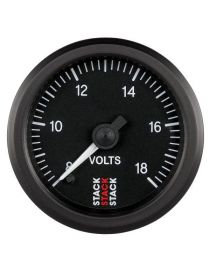 Voltmètre STACK analogique pro 8-18V fond noir