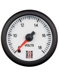 Voltmètre STACK analogique pro 8-18V fond blanc