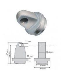 Connection mâle à souder dans tube arceau 30mm intérieur