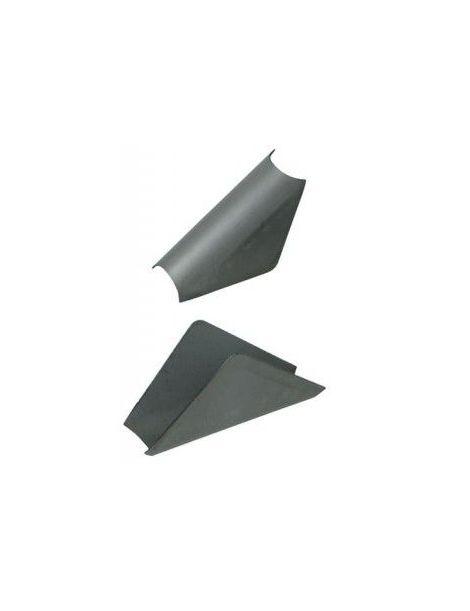 Gousset renfort arceau angle 80° acier épaisseur 1,5mm