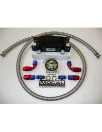 Kit radiateur huile matrice 115mm 10 rangées BREEZY DASH10, plaque thermostatique MOCAL 85°C