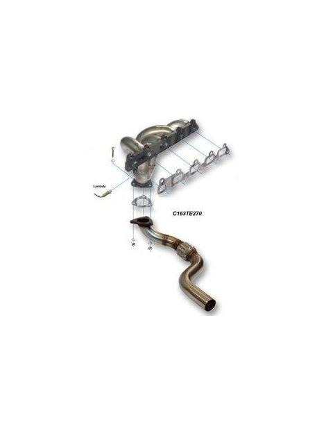 Collecteur avec tube de connexion inox RC RACING reference CE163TE270