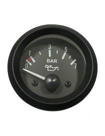 Manomètre pression huile TORR 0-7 bars fond NOIR avec sonde