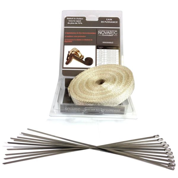 pack ruban 25mm 15m isolant chappement blanc type cool it 10 colliers. Black Bedroom Furniture Sets. Home Design Ideas
