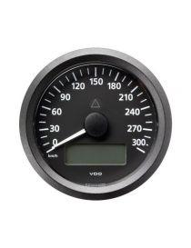 Compteur vitesse VDO Viewline 0-300km/h 85mm fond noir avec voltmètre