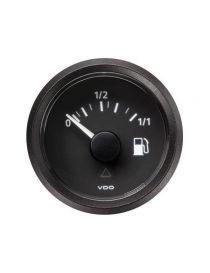 manomètre niveau carburant essence diesel VDO Viewline 52mm fond noir pour sonde tubulaire