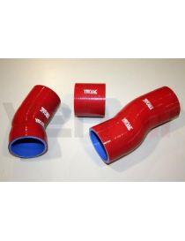 Kit 3 durites air silicone suralimentation (intercooler) VENAIR, reference 600001150980 - coloris ROUGE