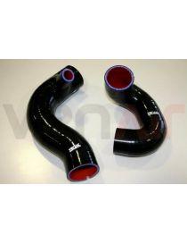 Kit 2 durites air silicone suralimentation VENAIR, reference 600001151409 - coloris NOIR