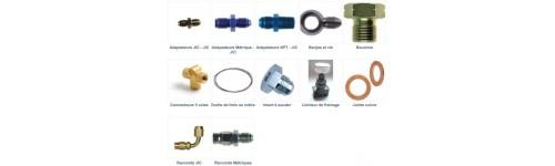Adaptateurs de frein BSP/JIC/METRIQUE/NPT