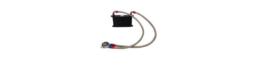 Kit radiateur huile universel avec plaque thermostatique